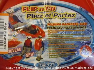 Flip N Go Folding Backpack Sled