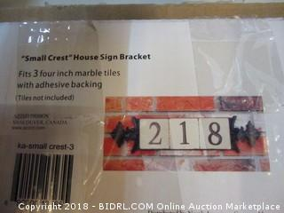 Small Crest House Sign Bracket
