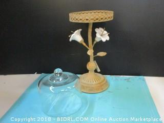 Metal Candle Holder, Medium Flower