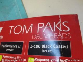 Tom Paks Drumheads