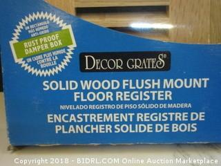 Solid Wood Flush Mount Floor Register