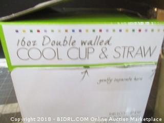 Double Walled Cool Cup & Straw